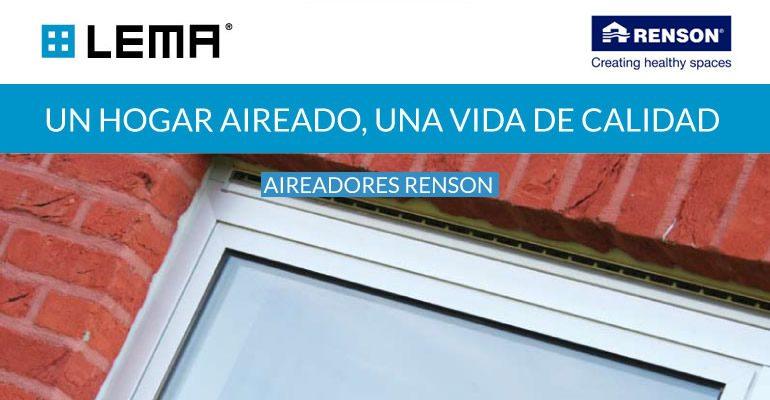 Imagen promocional Aireadores Renson - Distribuciones LEMA