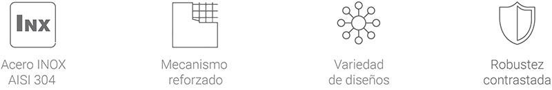 Características principales de las manillas inoxidables Kairox - STAC