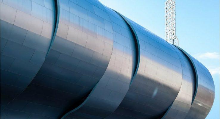 Imagen de Balaídos en su exterior con LEMA STACBOND