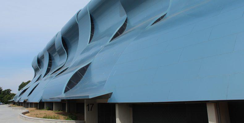 Imagen de la nueva cubierta exterior de Balaidos LEMA STACBOND