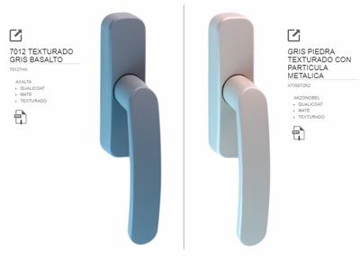 Ejemplo comparativas en lacado de manillas STAC - STAC REAL COLOUR EXPERIENCE