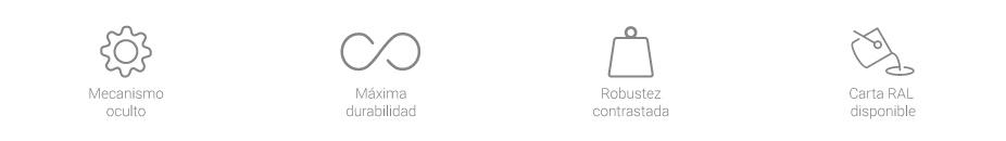 Imagen de las características principales de la familia de manillas minimalistas de STAC