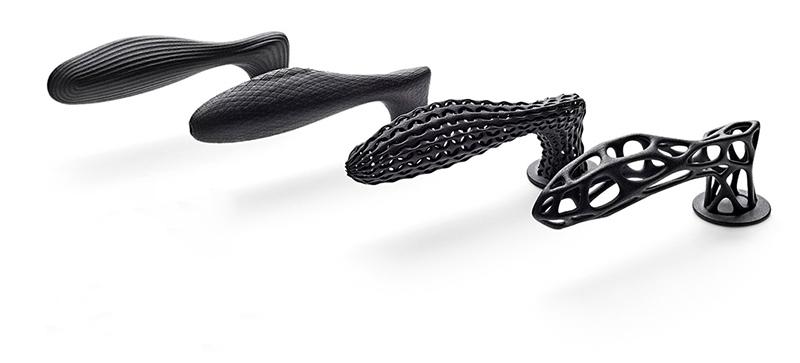 Simulación de manillas fabricadas con impresión 3D producción aditiva STAC y HP