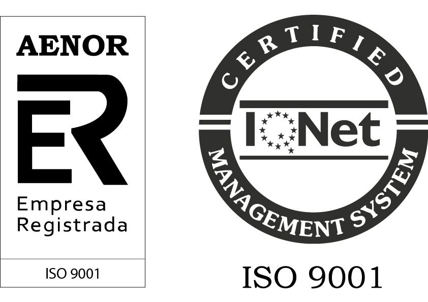 Imagen de logotipo AENOR 9001 - LEMA posee estas certificaciones tanto en Distribuciones Alfonso Lema como en Laminados Lema S.L.