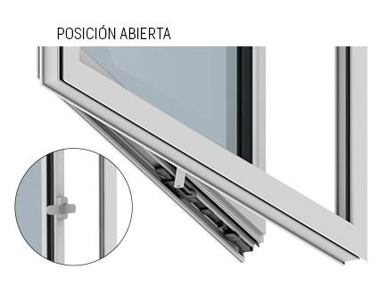 Imagen detalle Compás limitador con retención de STAC posición abierta
