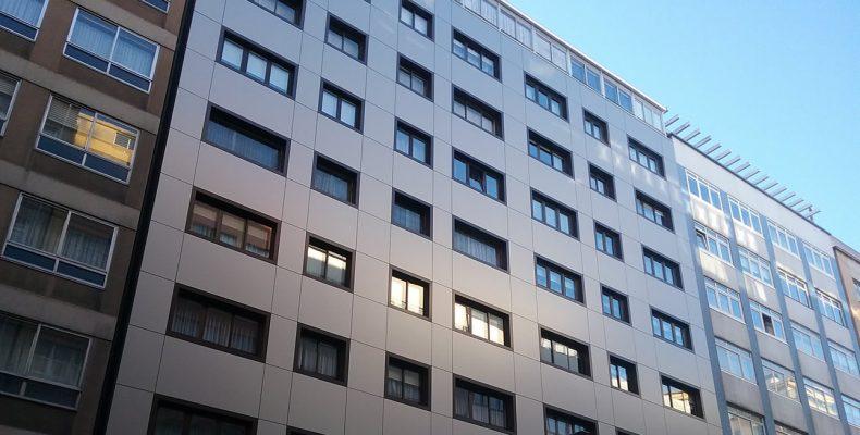 Imagen de la noticia de Renovacion fachadas ventiladas en A Coruña con espectacular geometría