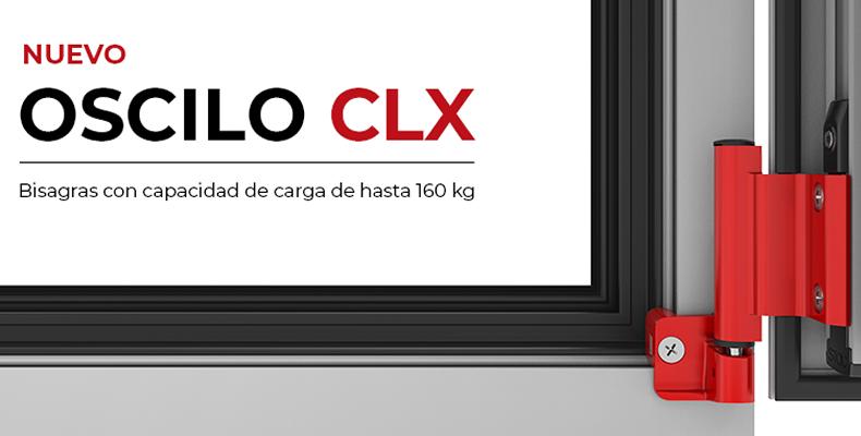 Imagen principal del nuevo Oscilo CLX Bisagras con capacidad de carga de hasta 160 Kg