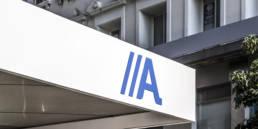 Imagen de los rótulos de las oficinas de ABANCA con panel LEMA STACBOND