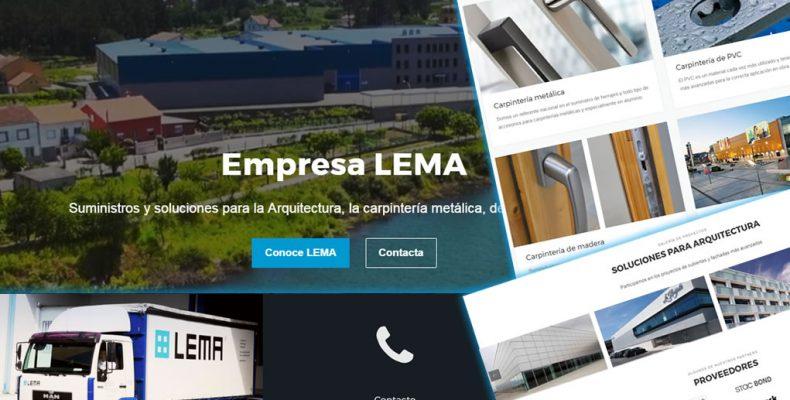 Imagen de la portada de la nueva web de Empresa LEMA