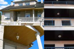 Imagen de lamas y bandejas para techos LEMA Aplicación en obra