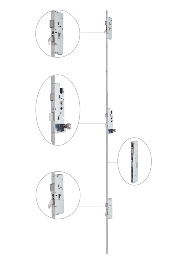 Imagen de la cerradura Multipunto automática iself detalle CVL