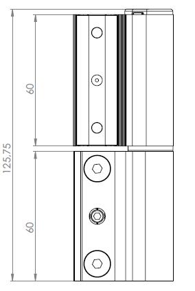 Imagen de bisagra para puerta ACRUX cotas