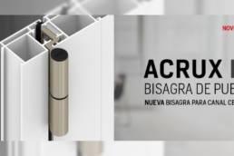 Bisagra ACRUX FR ahora para canal centrado francés principal