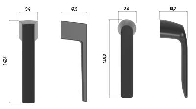 Imagen de las cotas de las manillas minimalistas de STAC