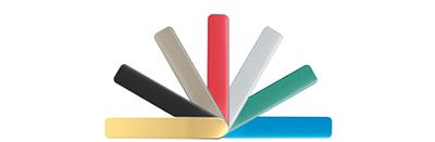 Imagen de las gama de acabados de la familia de manillas minimalistas de STAC