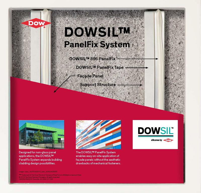 Imagen del ejemplo aplicación del DOWSIL PanelFix