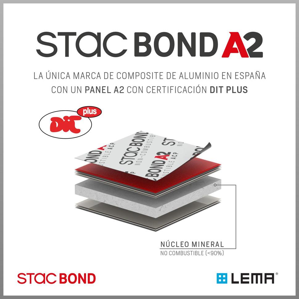 Imagen de la certificación DIT PLUS para el panel composite STACBOND A2