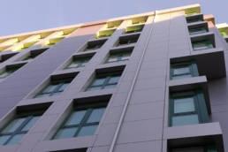 Imagen principal de la rehabilitación del edificio en Rúa da Rosa en Santiago