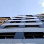 Imagen de la obra de rehabilitación de fachadas ventiladas San Pedro de Mezonzo 38 en Santiago