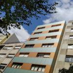 Imagen principal de la obra de rehabilitación de fachada, envolvente arquitectónica, en Paseo de Colón 20 en Pontevedra con soluciones completas LEMA STACBOND