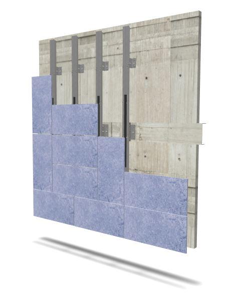 Imagen en 3D de la placa FAVETON Acqua con sistema constructivo SAH