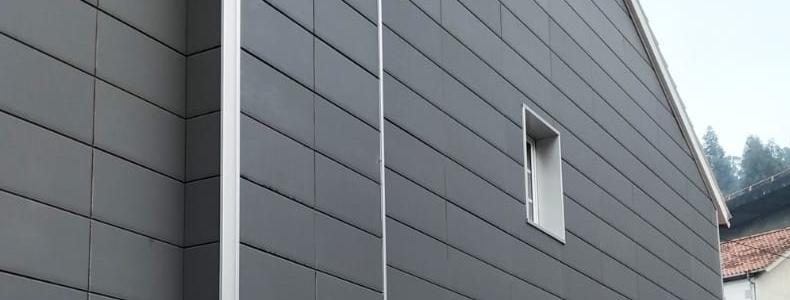 Imagen secundaria de la Pequeña fachada ventilada con placa cerámica en Marín