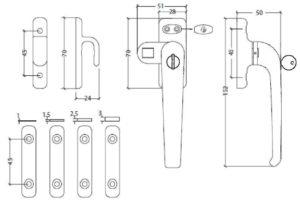 Imagen de detalle esquema del cierre de presión con llave Tovic