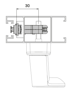 Imagen de detalle y esquema del Cierre Multipunto 30