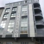 Imagen detalle de la obra de rehabilitación del Hotel Conde de Lemos