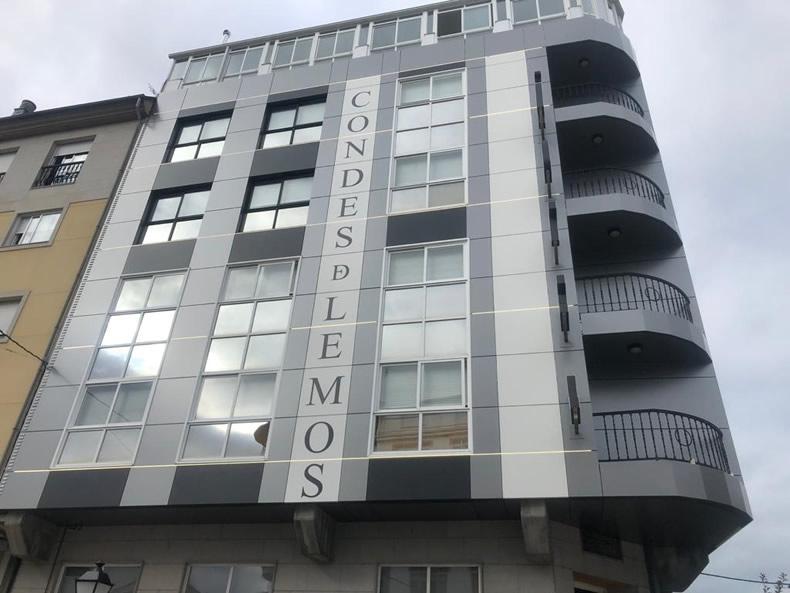 Imagen detalle de la obra de rehabilitación del Hotel Condes de Lemos