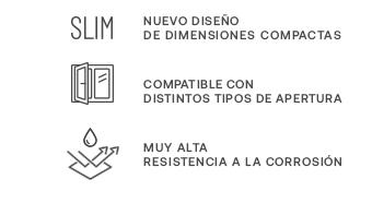 Imagen de las características del nuevo diseño Slim