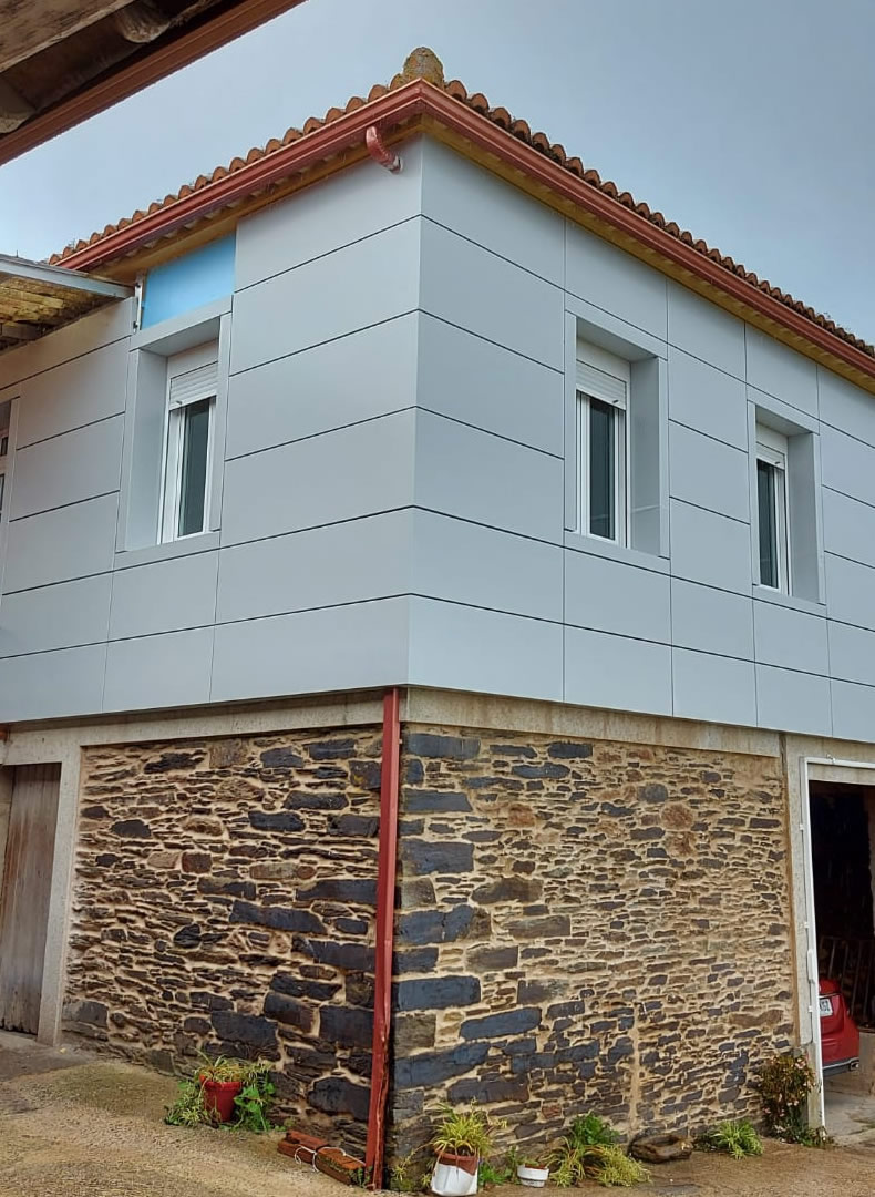 Imagen detalle Sistema de fachadas STB T CH para casa rústica