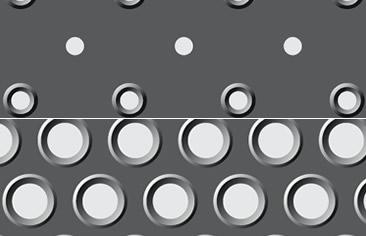 Imagen de la chapa perforada ajugeros abocardados LEMA