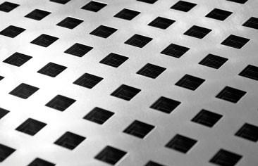 Imagen de la chapa perforada ajugeros cuadrados LEMA