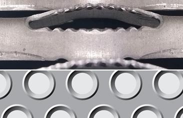 Imagen de la chapa para pisos metálicos LEMA
